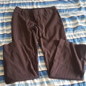 Mossimo dark brown pinstripe pants.